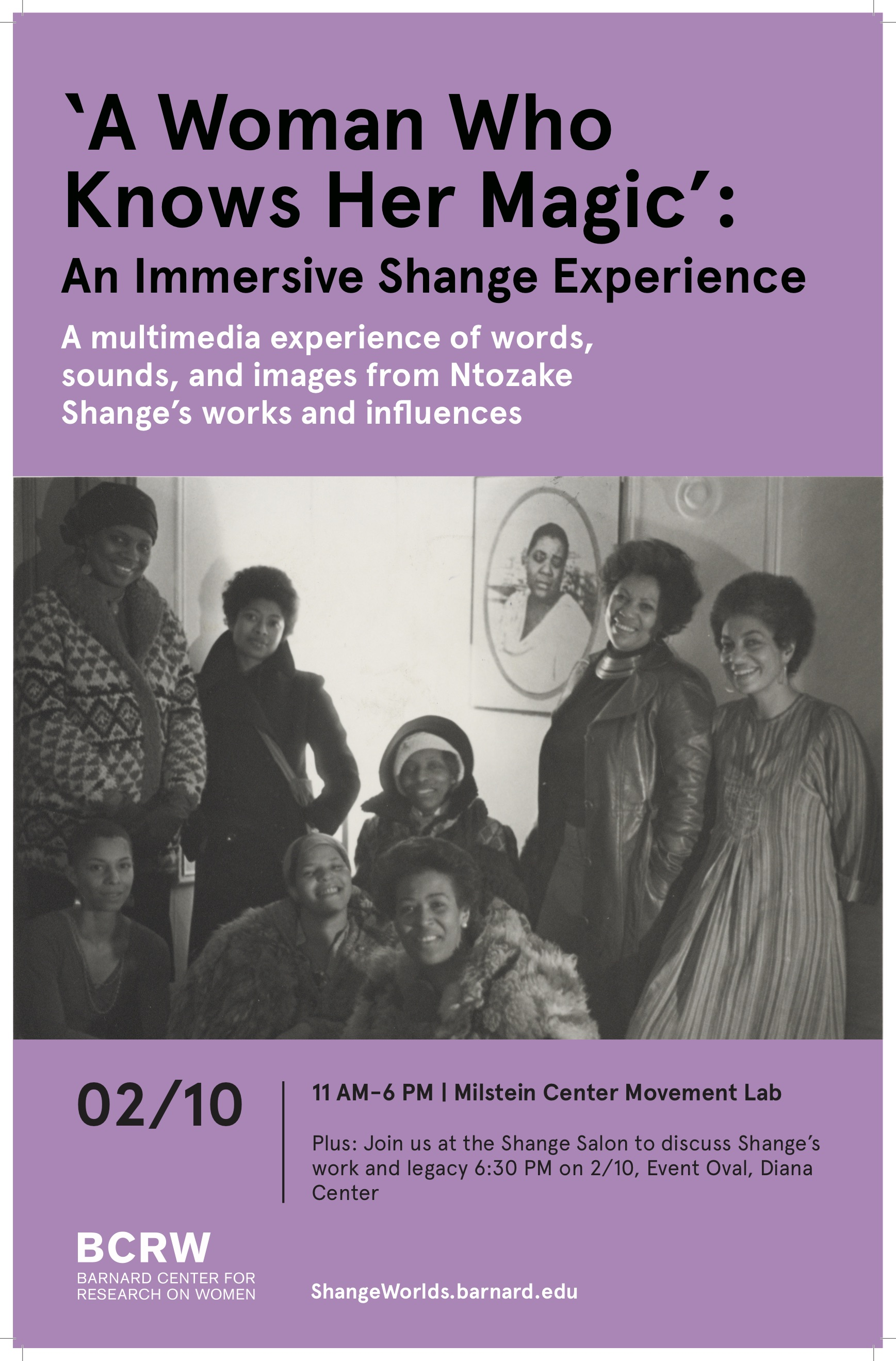 Shange Movement Lab Event Poster
